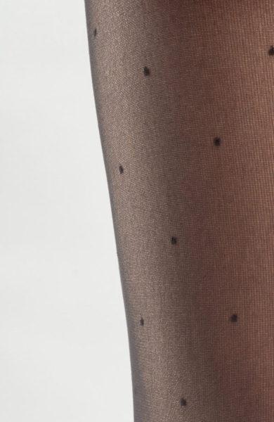 Černé silonky s puntíky punčocháče Verona