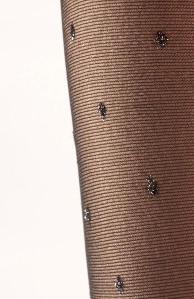 Černé silonky se třpytivými puntíky punčocháče lurex Catania