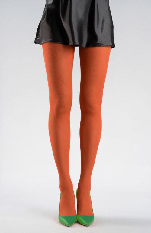 Oranžové silonky silné barevné punčocháče