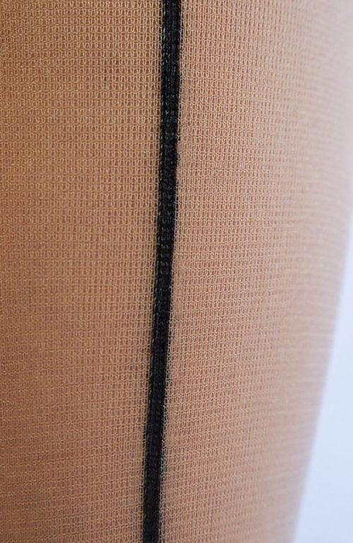 Tělové silonky s černým švem Regina Collanteria