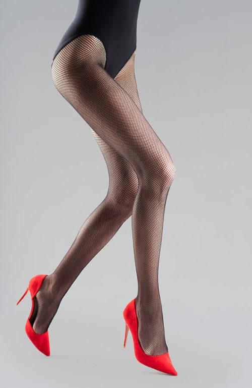 Arizona černé punčocháče kabaretky síťové punčochy se švem