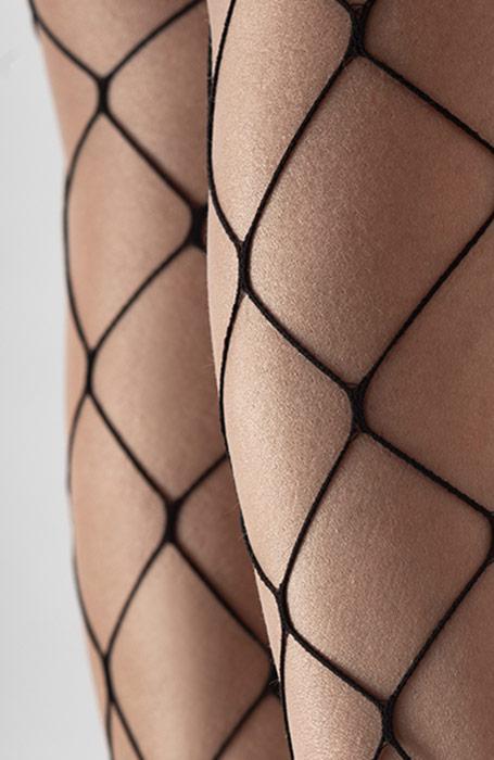 Malaga černé punčocháče kabaretky síťové punčochy
