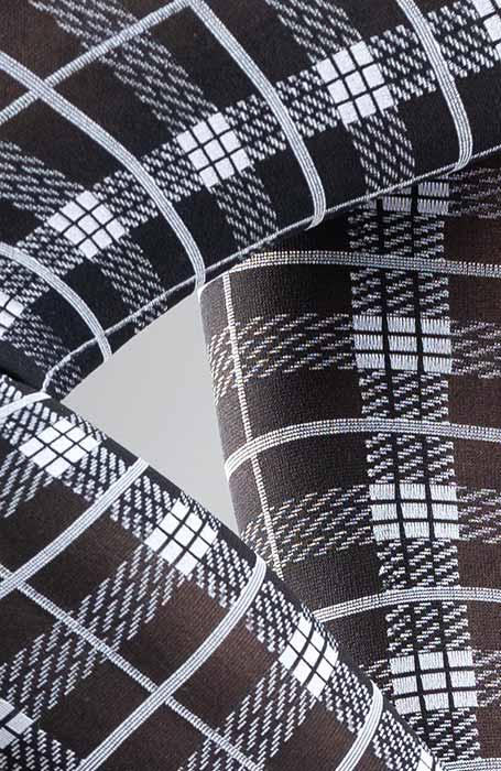 Tartara 50DEN vzorované punčocháče se skotským vzorem tartan
