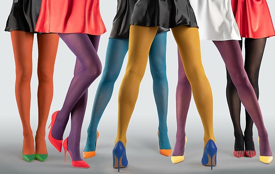 Vzorované silonky punčocháče Collanteria barevné punčochy