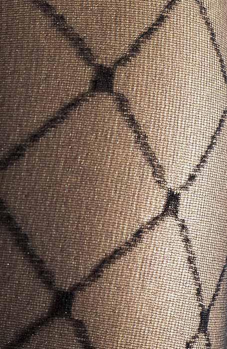 Černé silonky kabaretky se vzorem sití punčocháče punčochy Palma