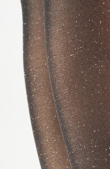 Hladké třpytivé silonky s lurexovým vláknem 20DEN tmavě šedé Salerna