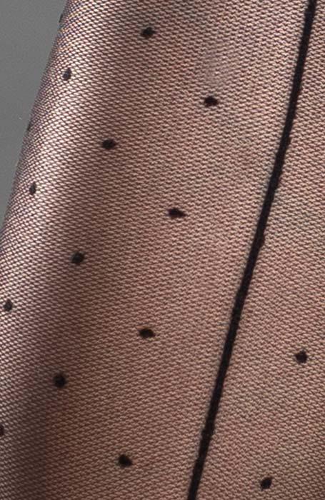 Černé samodržící punčochy s malými puntíiky a zadním švem a krajkovým lemem Seine Collanteria