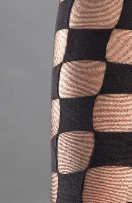 Černé vzorované silonky se vzorem šachovnice Collanteria LeMans