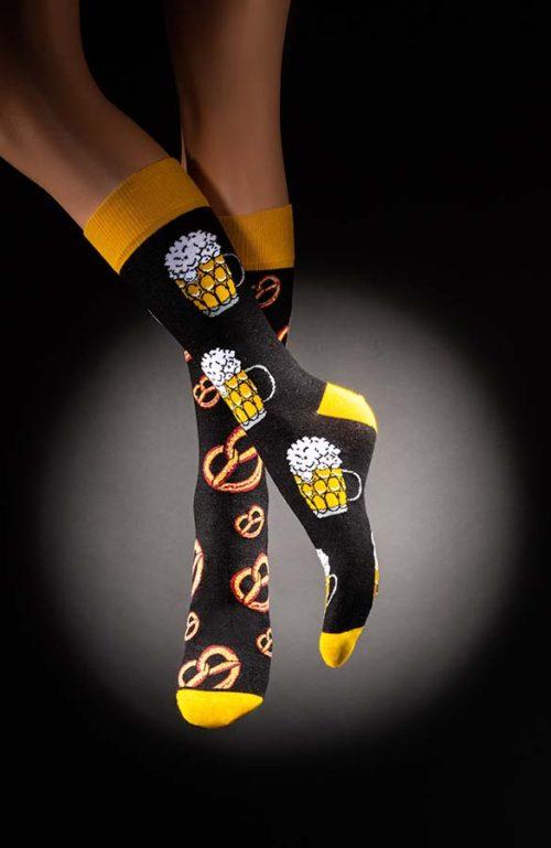 Veselé pánské ponožky pivo preclíky Oktoberfest