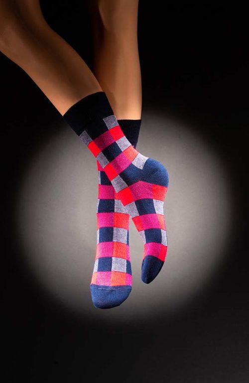 Veselé pánské ponožky kostkované Quadro
