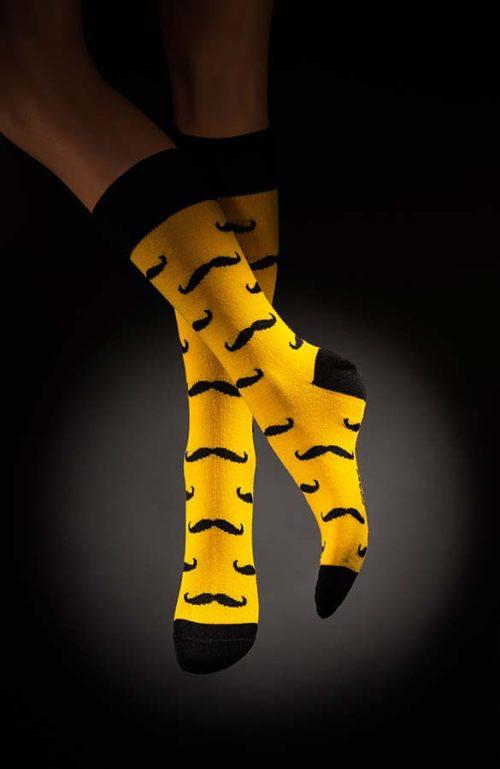 Pánské ponožky s kníry Poirot Movember