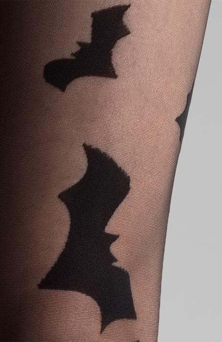 Černé silonky s netopýry Collanteria Transylvania